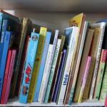 les livres, ça c'est la base de mon fond de commerce, la lecture represente une activité importante, aucune journée sans plusieurs histoires racontées,  j'utilise des metres de rayonnage d'histoire et nous fréquentons assidument la médiathéque, sans compter les enfants que les enfants aménent directement de chez eu.